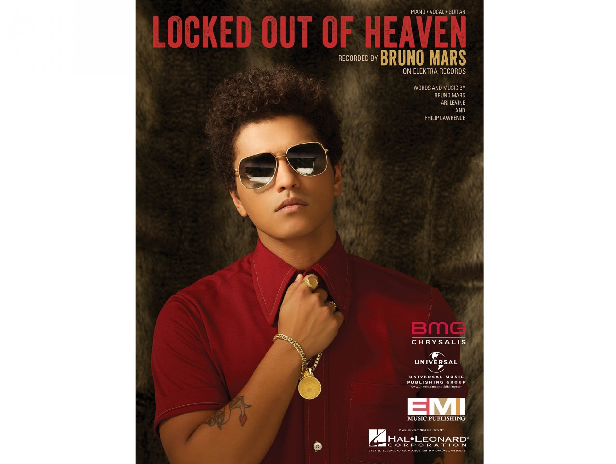 Bruno Mars Locked Out of Heaven Piano/Vocal/Guitar