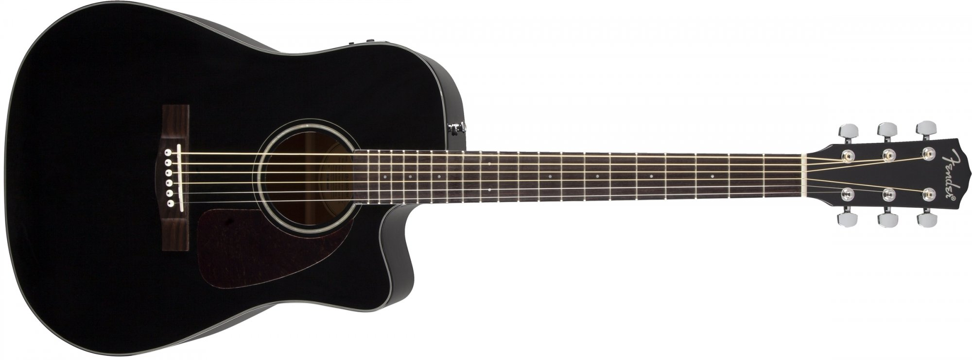 Fender CD-140SCE Acoustic Electric Guitar Black with Case
