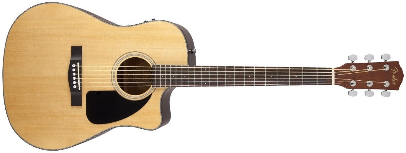 Fender CD-60CE Acoustic Electric Guitar Natural with Hard Case
