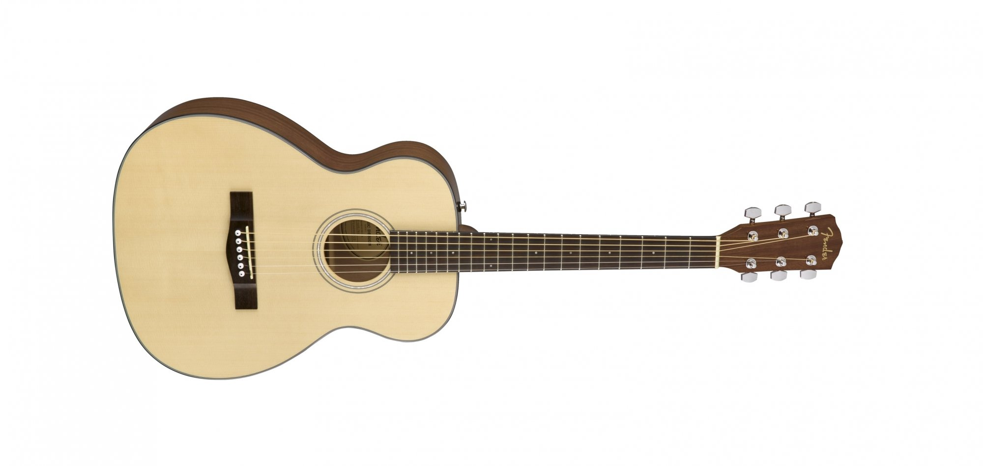 Fender CT-60S Solid Top Small Travel Acoustic Guitar, Natural