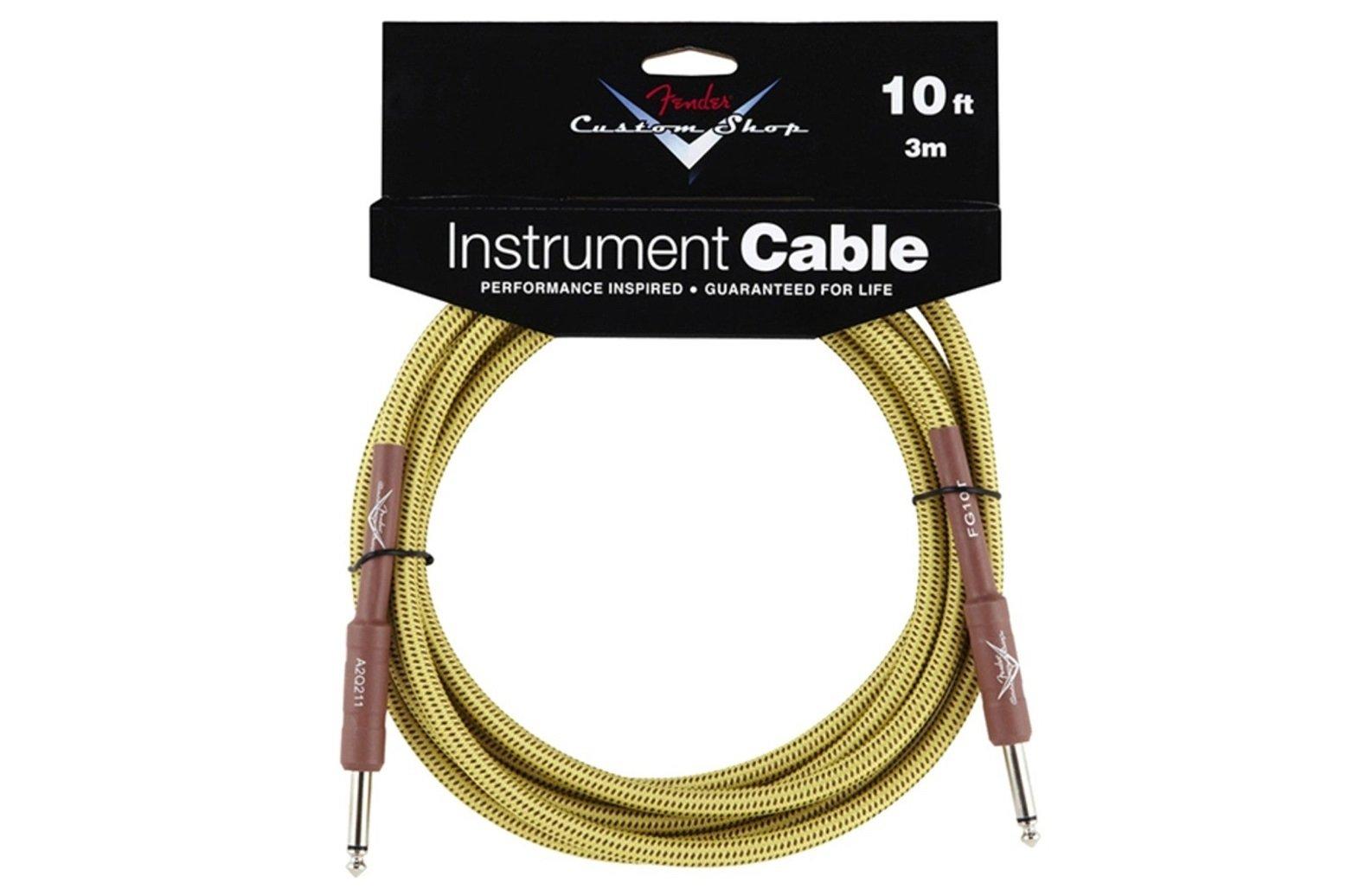 Fender Custom Shop Instrument Cable S-S 10' Tweed