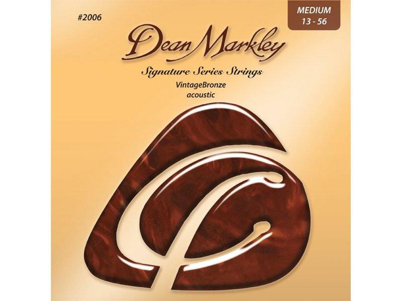 Dean Markley Signature Series VintageBronze Acoustic Guitar Strings, Medium