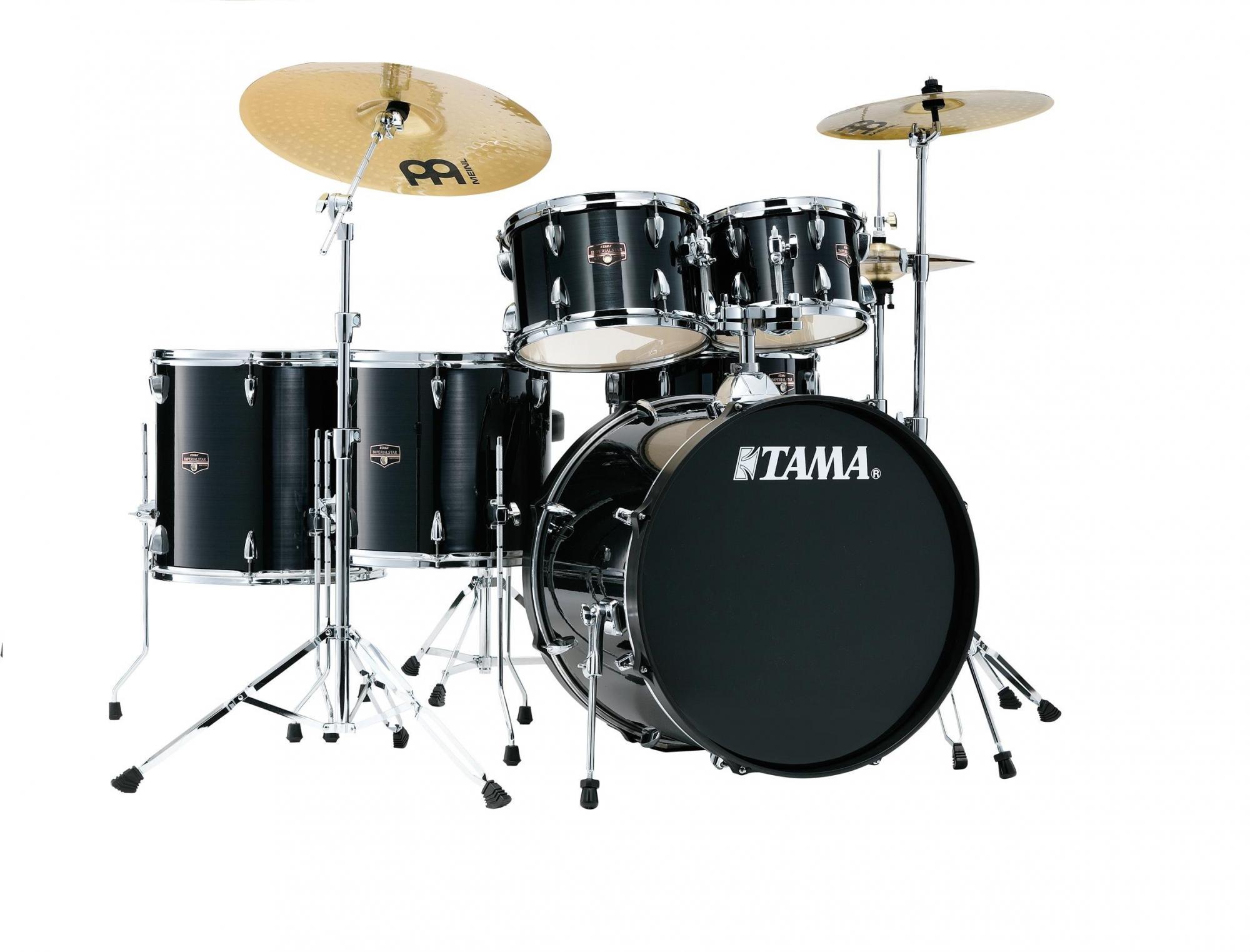Tama Imperialstar Drum Kit, Hairline Black, 6 Piece