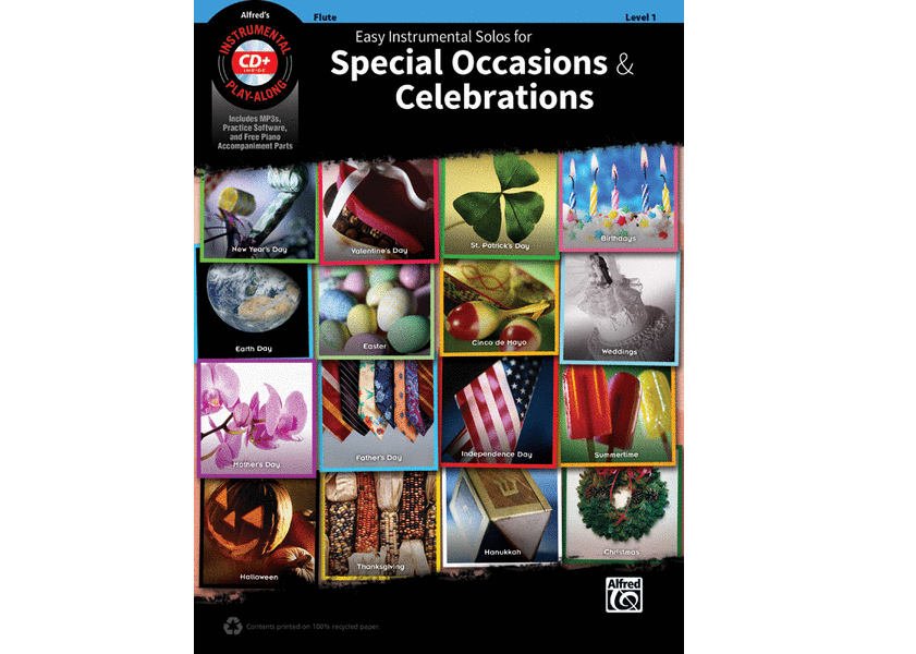 Easy Instrumental Solos for Special Occasions & Celebrations - Flute