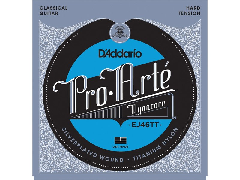 D'Addario Pro Arte Dynacore Classical Guitar Strings, EJ46TT Hard Tension