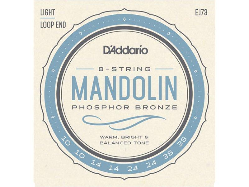 D'Addario Phosphor Bronze Mandolin Strings, EJ73 Light