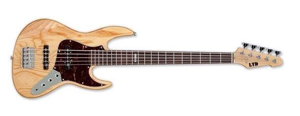 ESP LTD J-204 Electric Bass, Natural Gloss