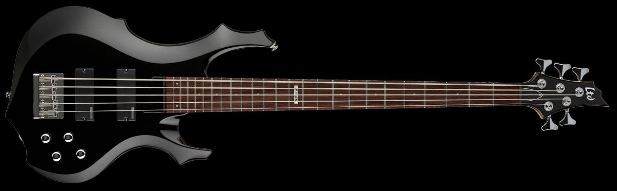 ESP LTD F-105 5-String Electric Bass, Black