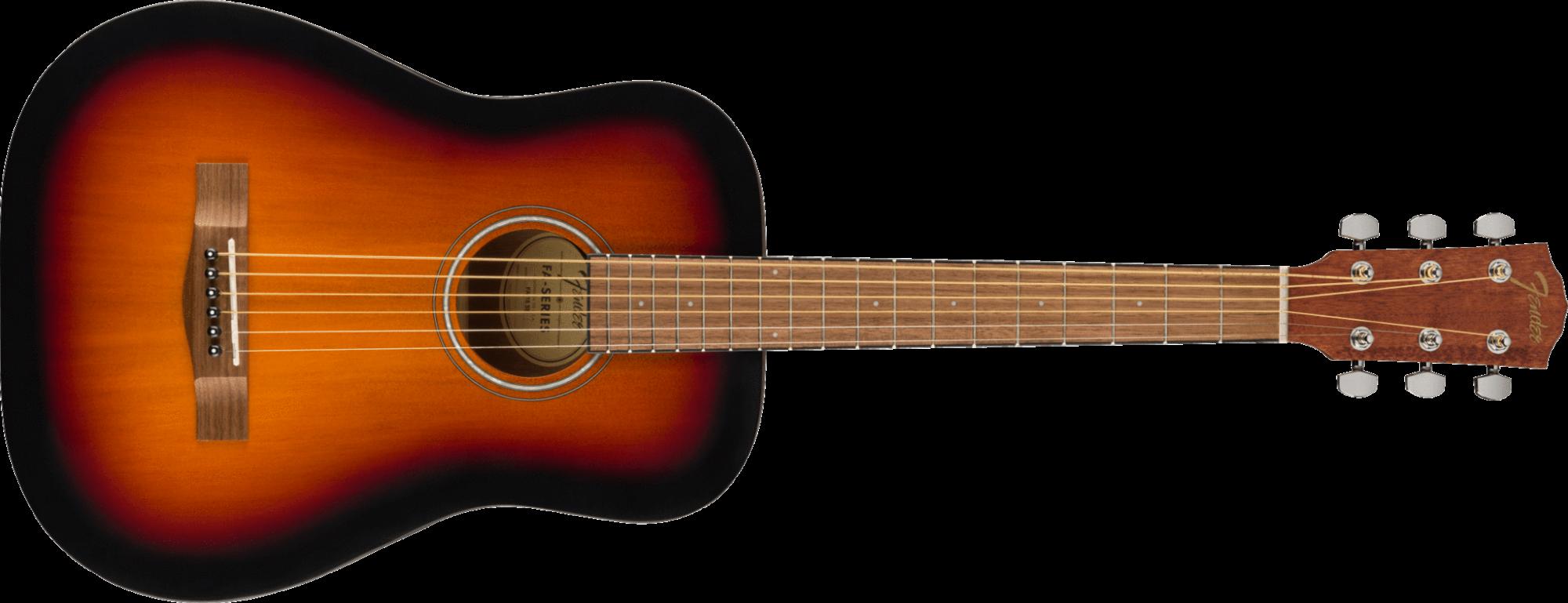 Fender FA-15 3/4 Acoustic Guitar w/Gig Bag, Walnut Fingerboard, Sunburst