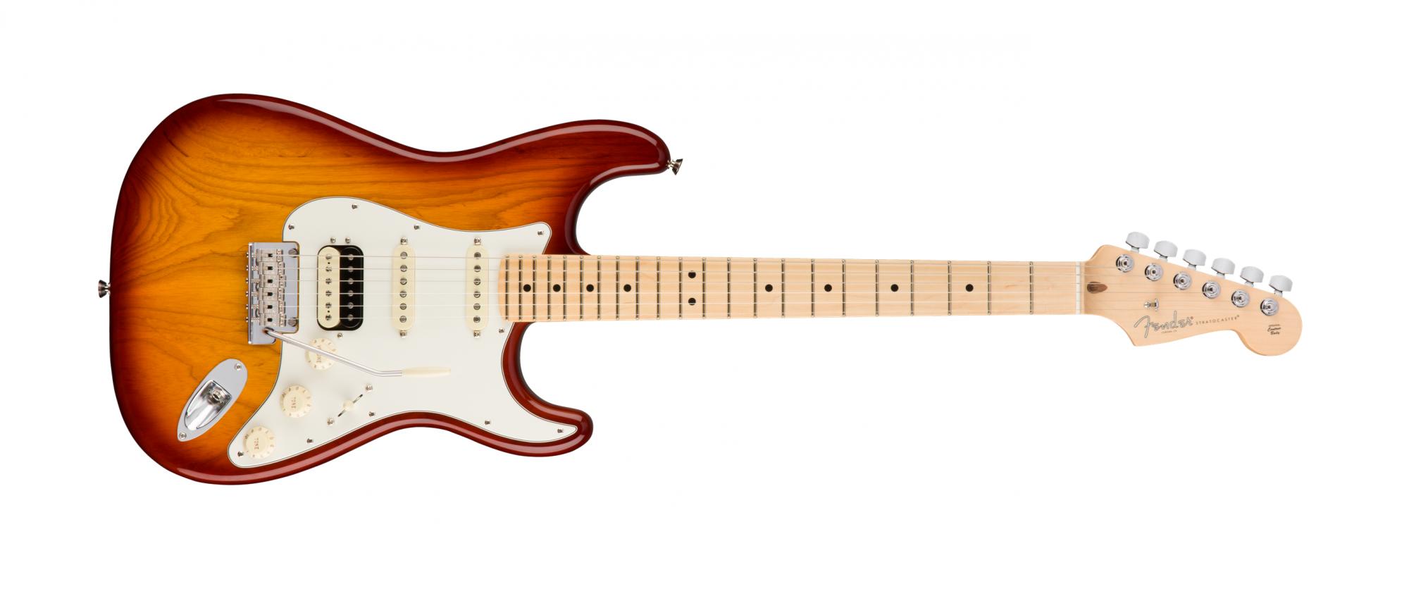 Fender American Pro Stratocaster HSS Maple Fingerboard, Sienna Sunburst