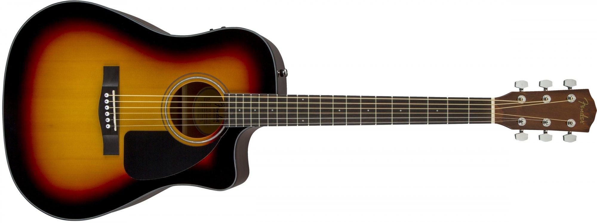 Fender CD-60CE Acoustic Electric Guitar Sunburst with Hard Case