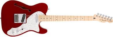 Fender Deluxe Thinline Telecaster Maple Neck Candy Apple Red