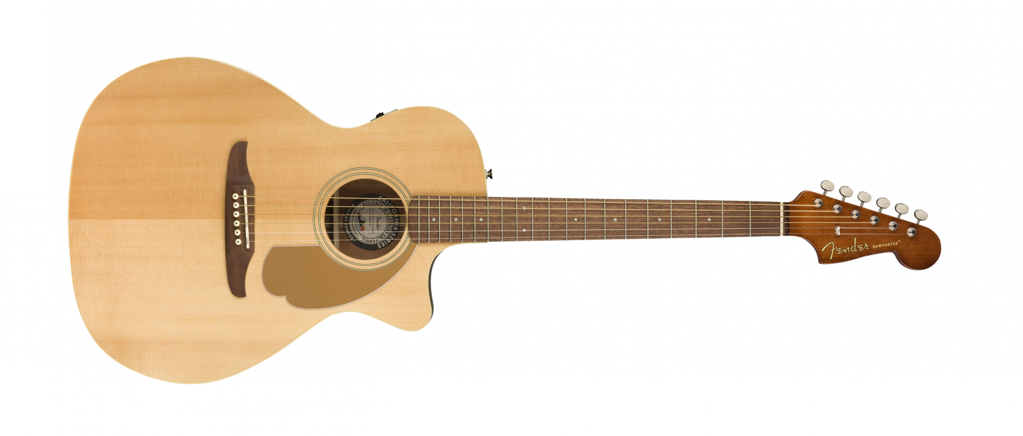 Fender Newporter Player Acoustic Electric Guitar WN Natural