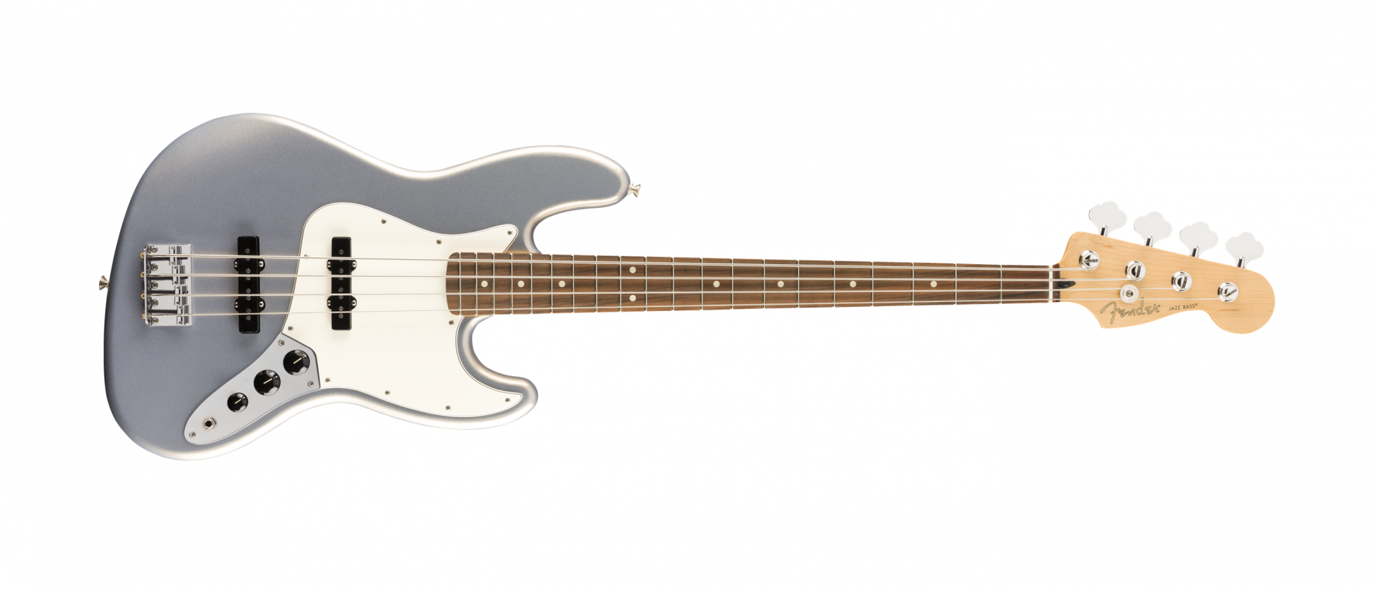 Fender Player Jazz Bass, Pau Ferro Fingerboard, Silver