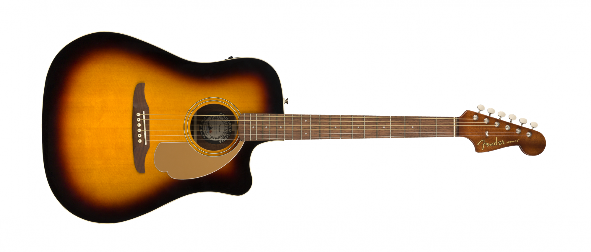 Fender Redondo Player Acoustic Electric Guitar WN Sunburst