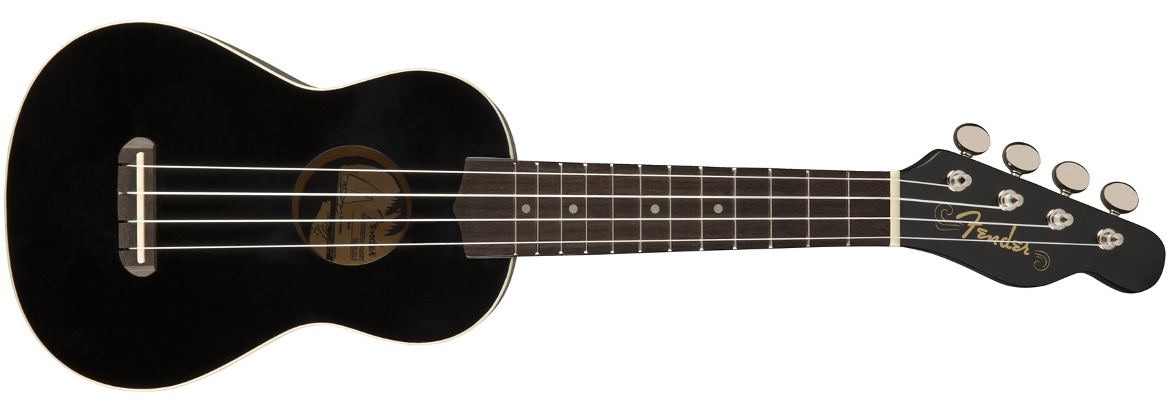 Fender Venice Soprano Ukulele, Black