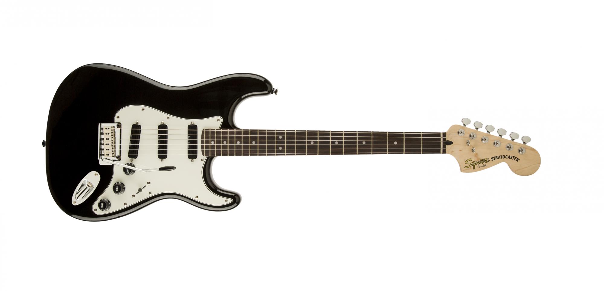 Fender Squier Deluxe Strat Hot Rails Black