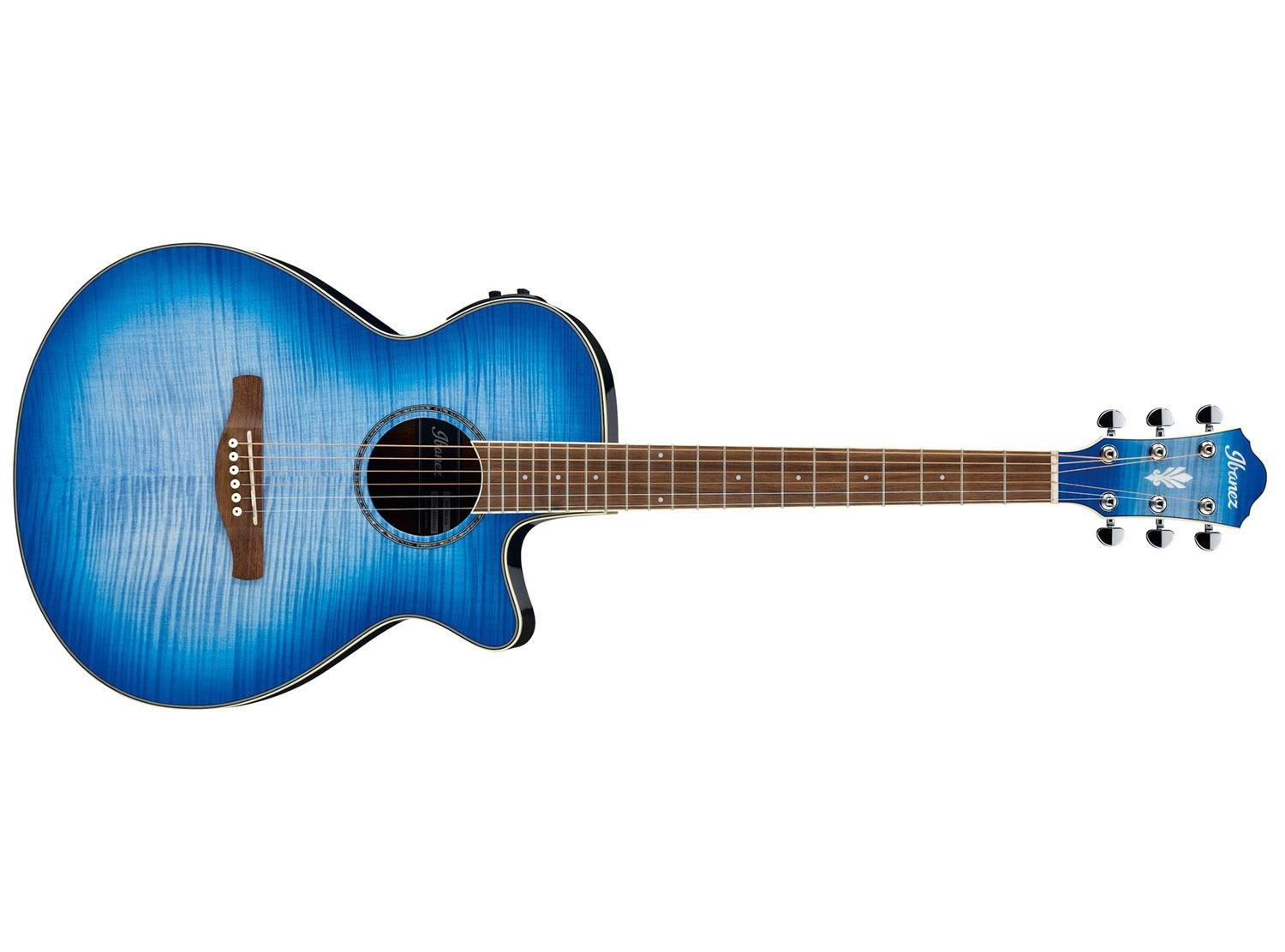 Ibanez AEG19II Acoustic Electric Guitar, Ocean Blue Burst