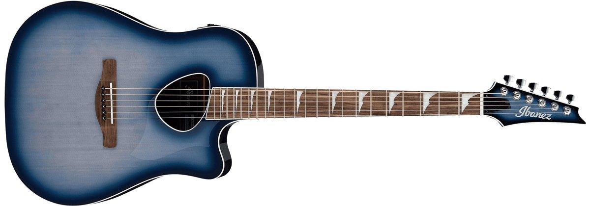 Ibanez Altstar ALT30 Acoustic Electric Guitar, Indigo Blue Burst