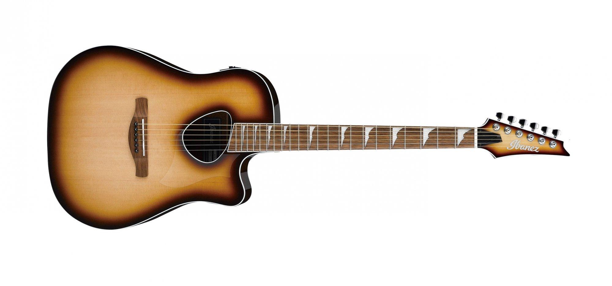 Ibanez Altstar ALT30 Acoustic Electric Guitar, Natural Browned Burst