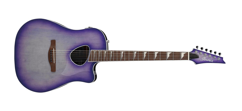 Ibanez Altstar ALT30 Acoustic Electric Guitar, Purple Iris Burst