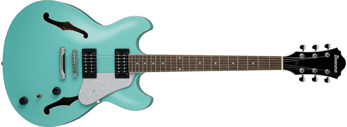 Ibanez AS63 Vibrante Hollow Body Electric Guitar, Sea Foam Green