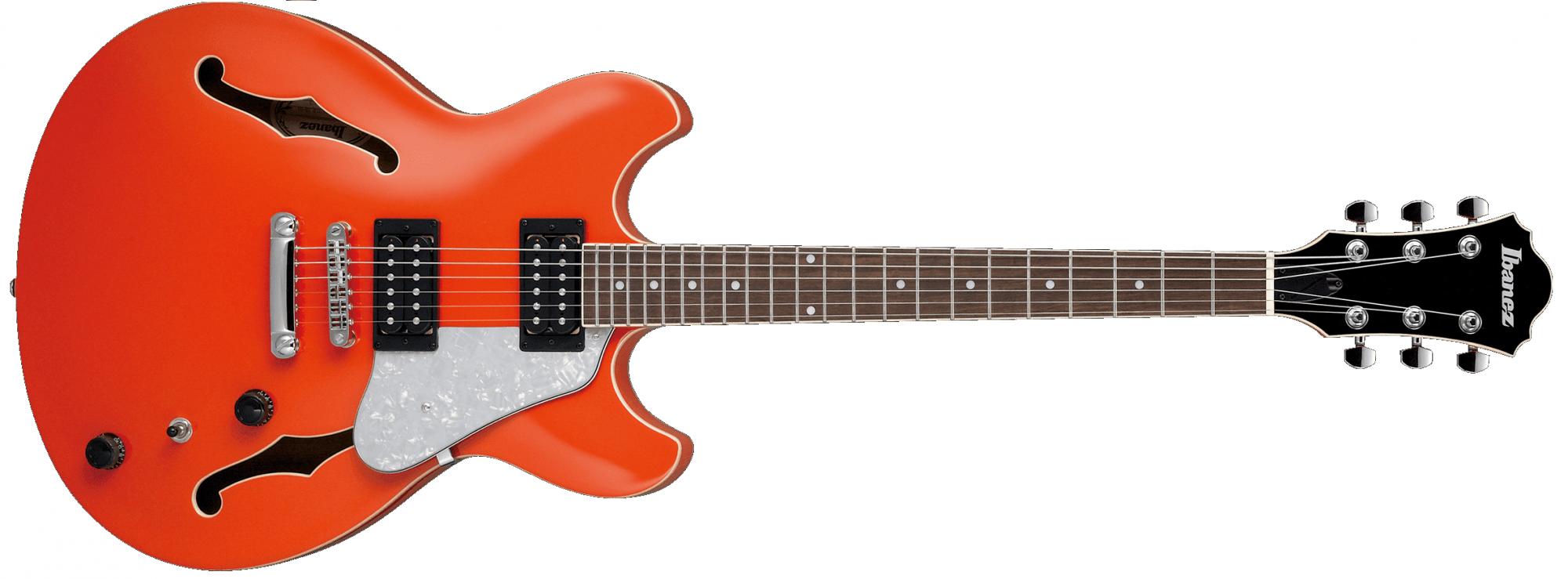Ibanez AS63TLO Artcore Vibrante Hollow Body Electric Guitar, Twilight Orange