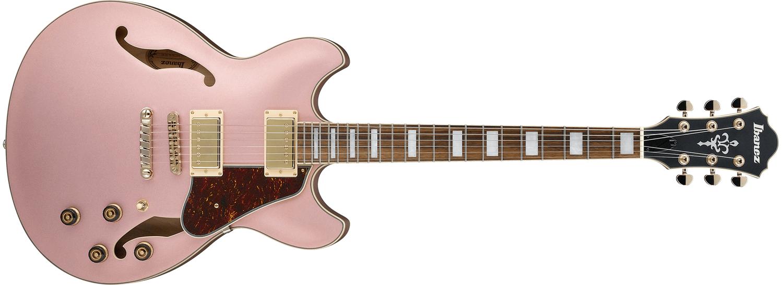 Ibanez AS73G Artcore Semi Hollow Electric Guitar, Rose Gold Metallic Flat