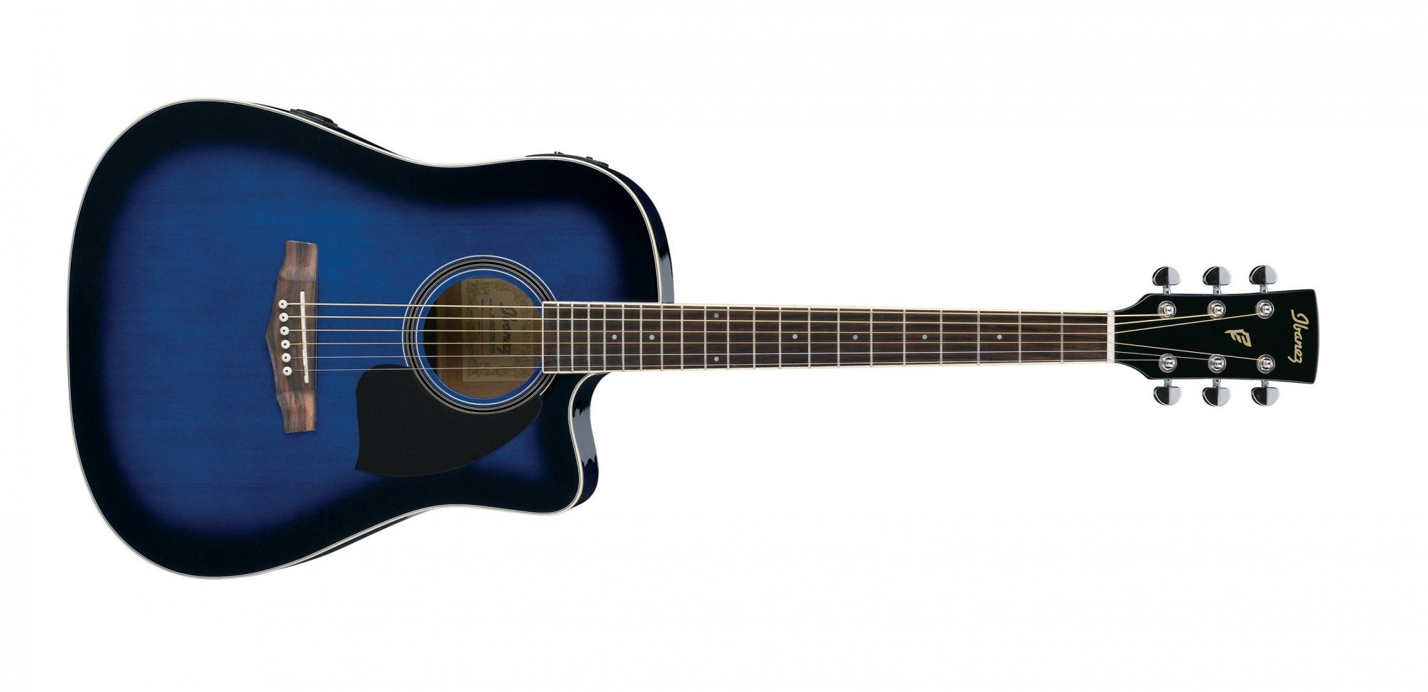 Ibanez PF15ECE-TBS Acoustic Electric Guitar, Trans Blue Burst