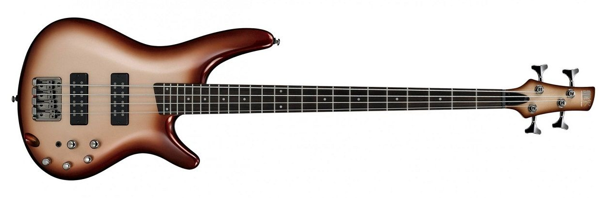 Ibanez SR300ECCB 4-string Bass Guitar, Charred Champagne Burst