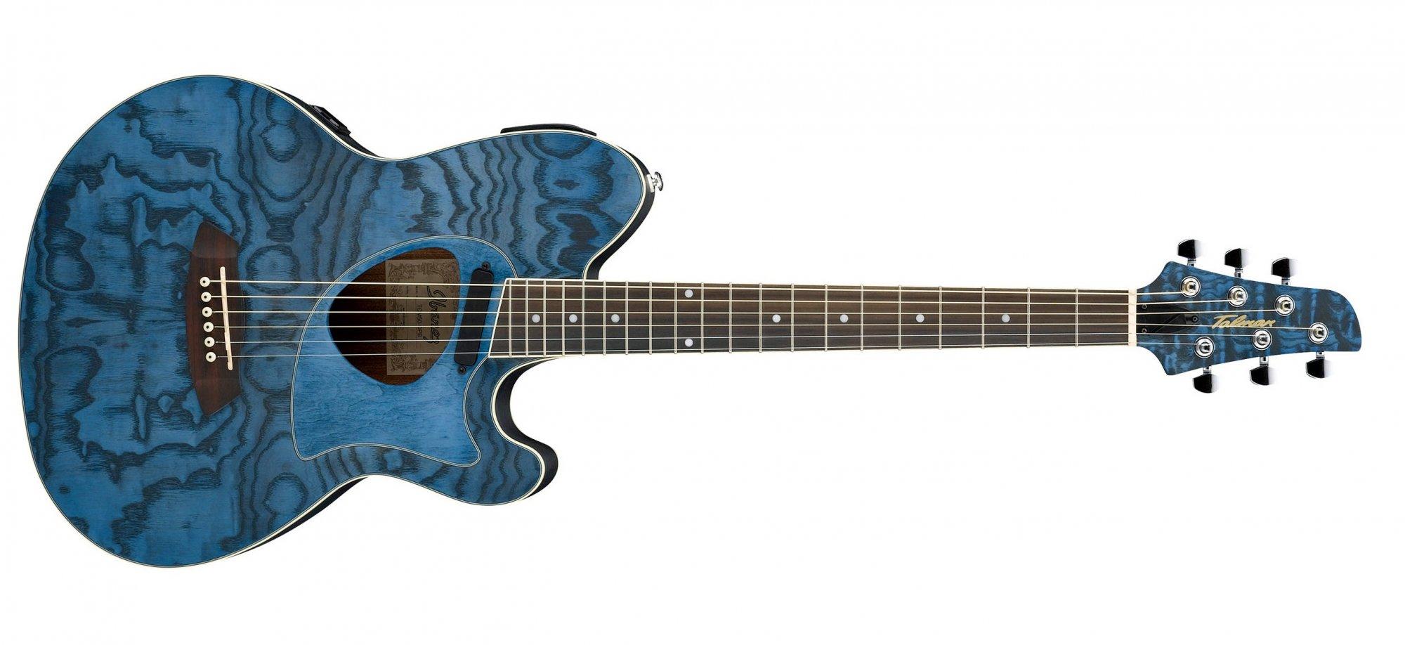 Ibanez Tcm50 Talman Acoustic Electric Guitar Dark Night Ocean Open