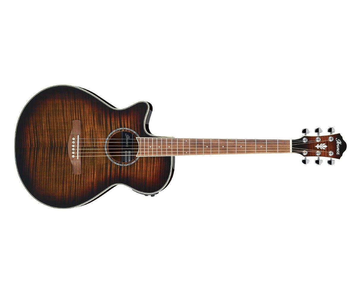 Ibanez AEG19II Lefty Acoustic Electric Guitar, Tiger Burst