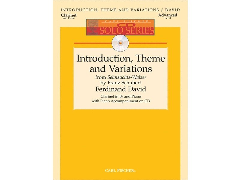 Introduction, Theme, and Variations by Schubert for Clarinet and Piano