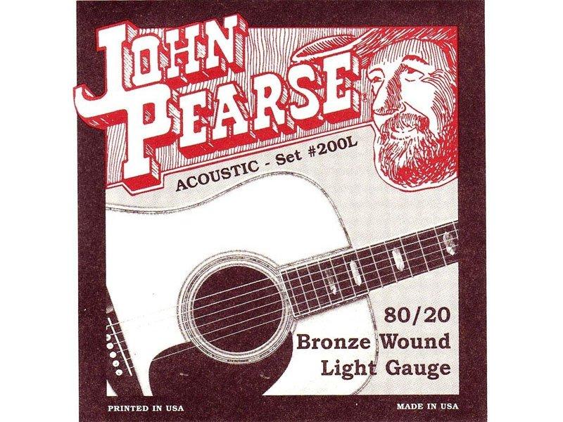 John Pearse 80/20 Bronze Acoustic Guitar Strings, Light
