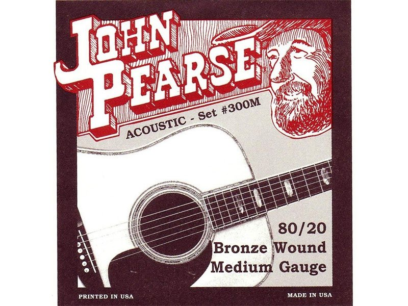 John Pearse 80/20 Bronze Acoustic Guitar Strings, Medium