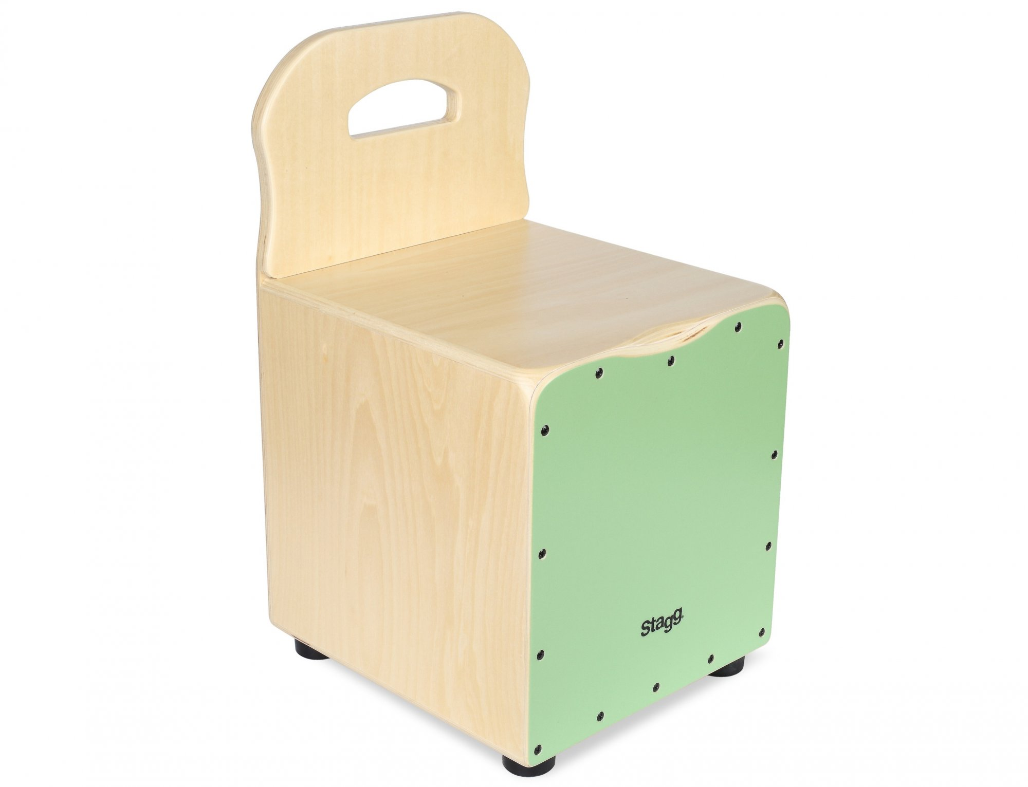 Stagg Kid Cajon with Backrest, Green