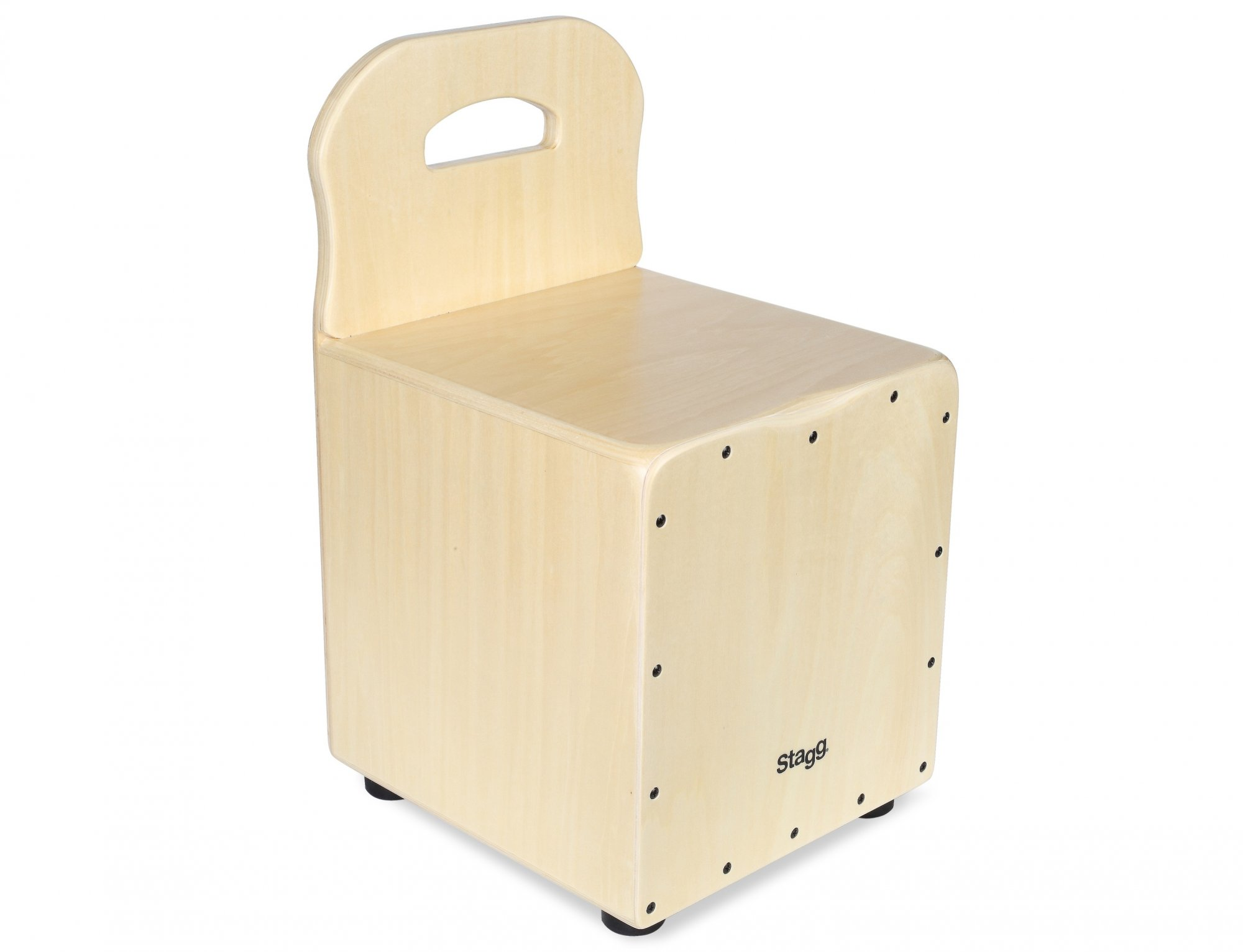 Stagg Kid Cajon with Backrest, Natural