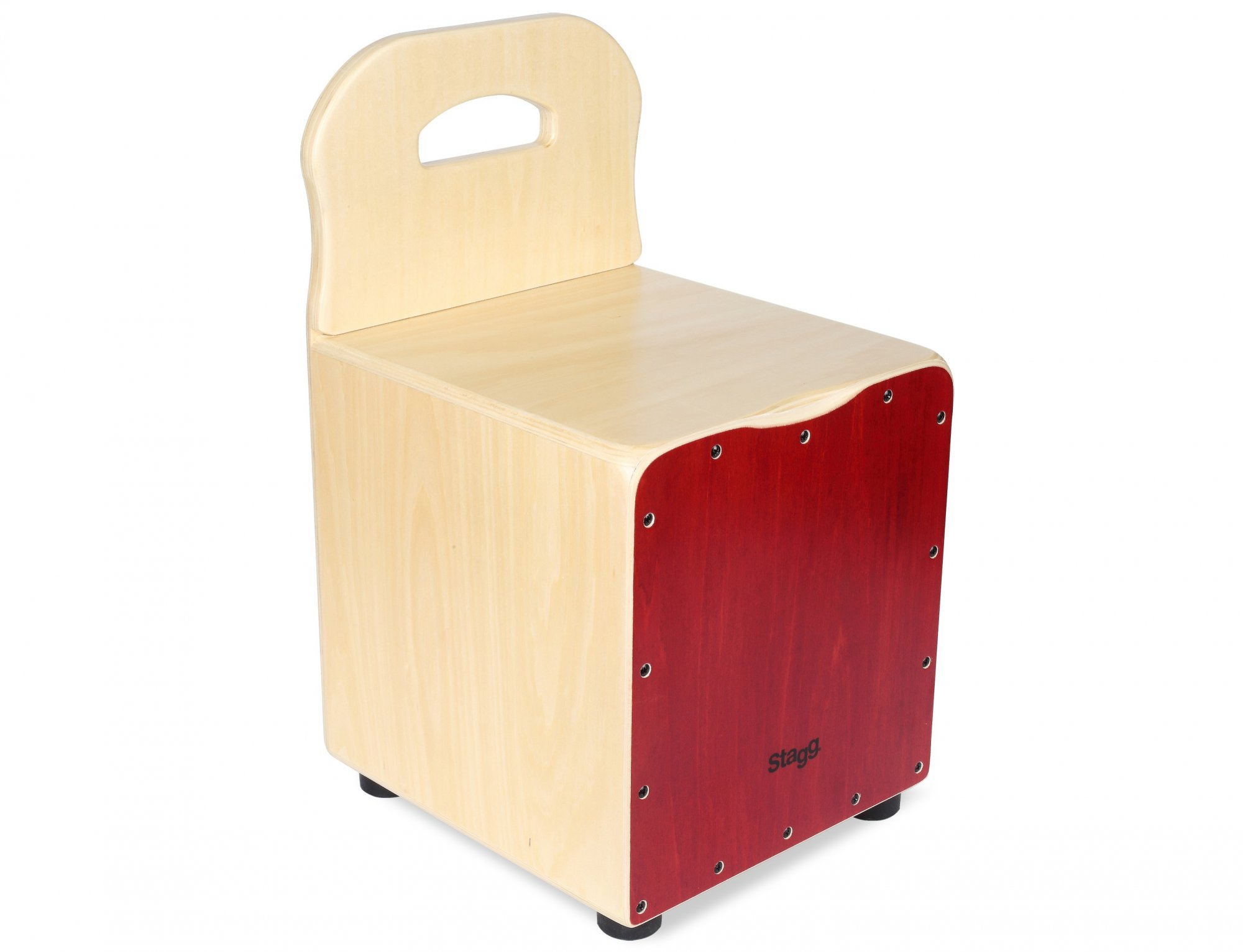 Stagg Kid Cajon with Backrest, Red