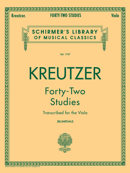 Kreutzer 42 Studies for Viola
