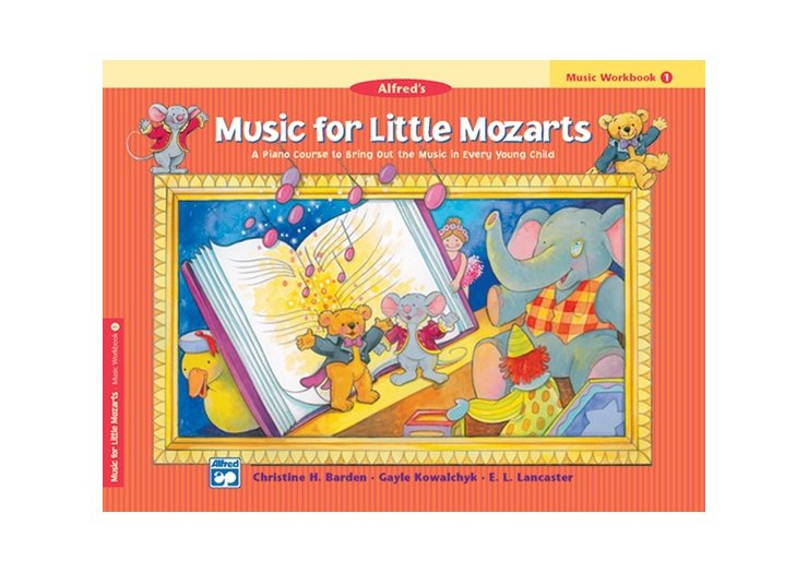 Alfred's Music for Little Mozarts Book 1 Music Workbook
