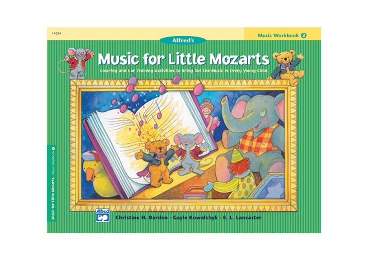 Alfred's Music for Little Mozarts Book 2 Music Workbook