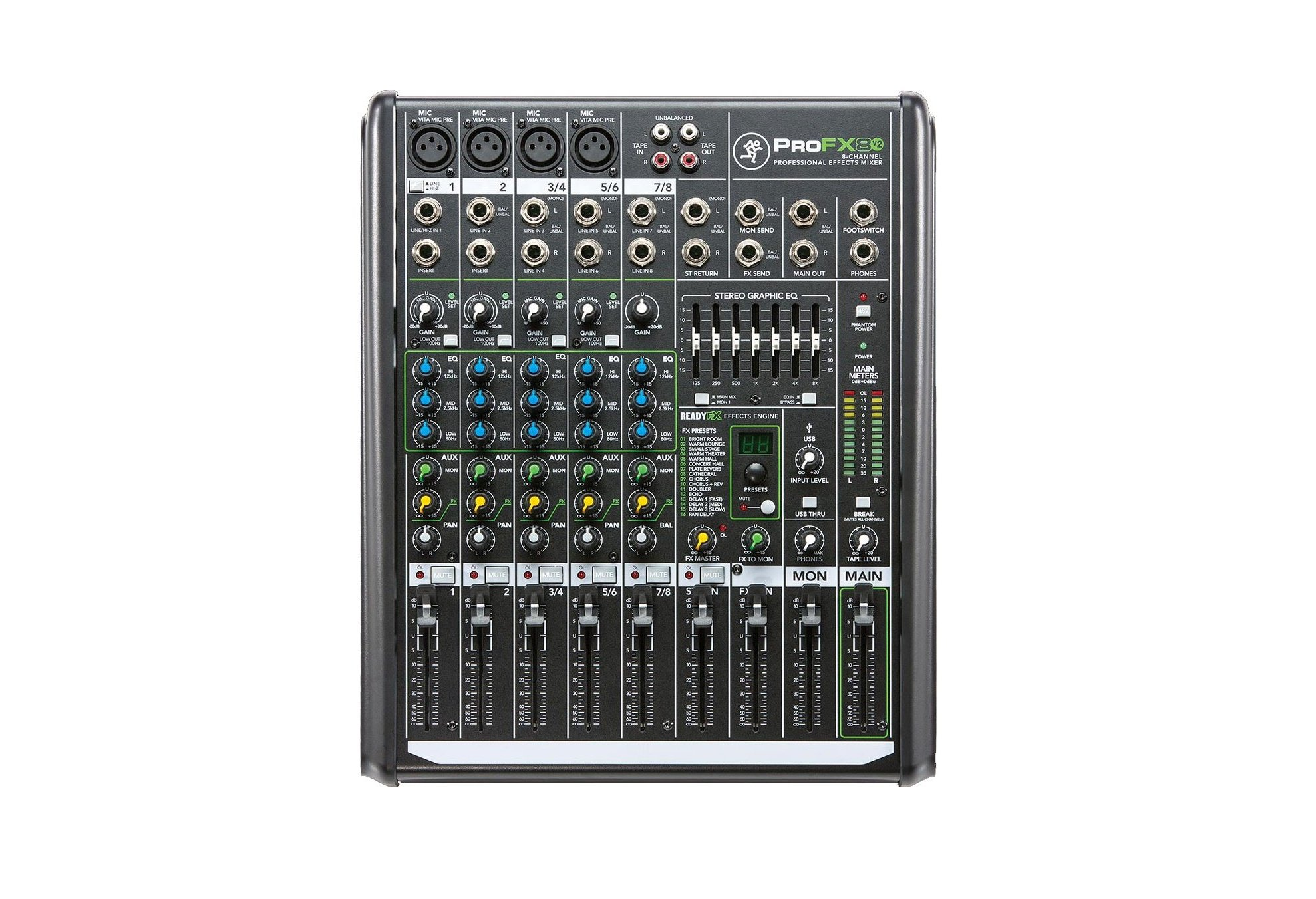 Mackie Pro FX8v2 Audio Line Mixer with USB, Effects