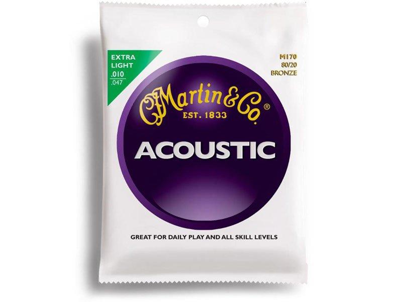 Martin 80/20 Bronze Acoustic Guitar Strings, Extra Light