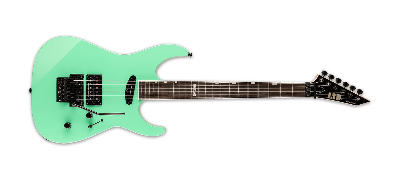 ESP LTD Mirage Deluxe '87 Electric Guitar, Turquoise