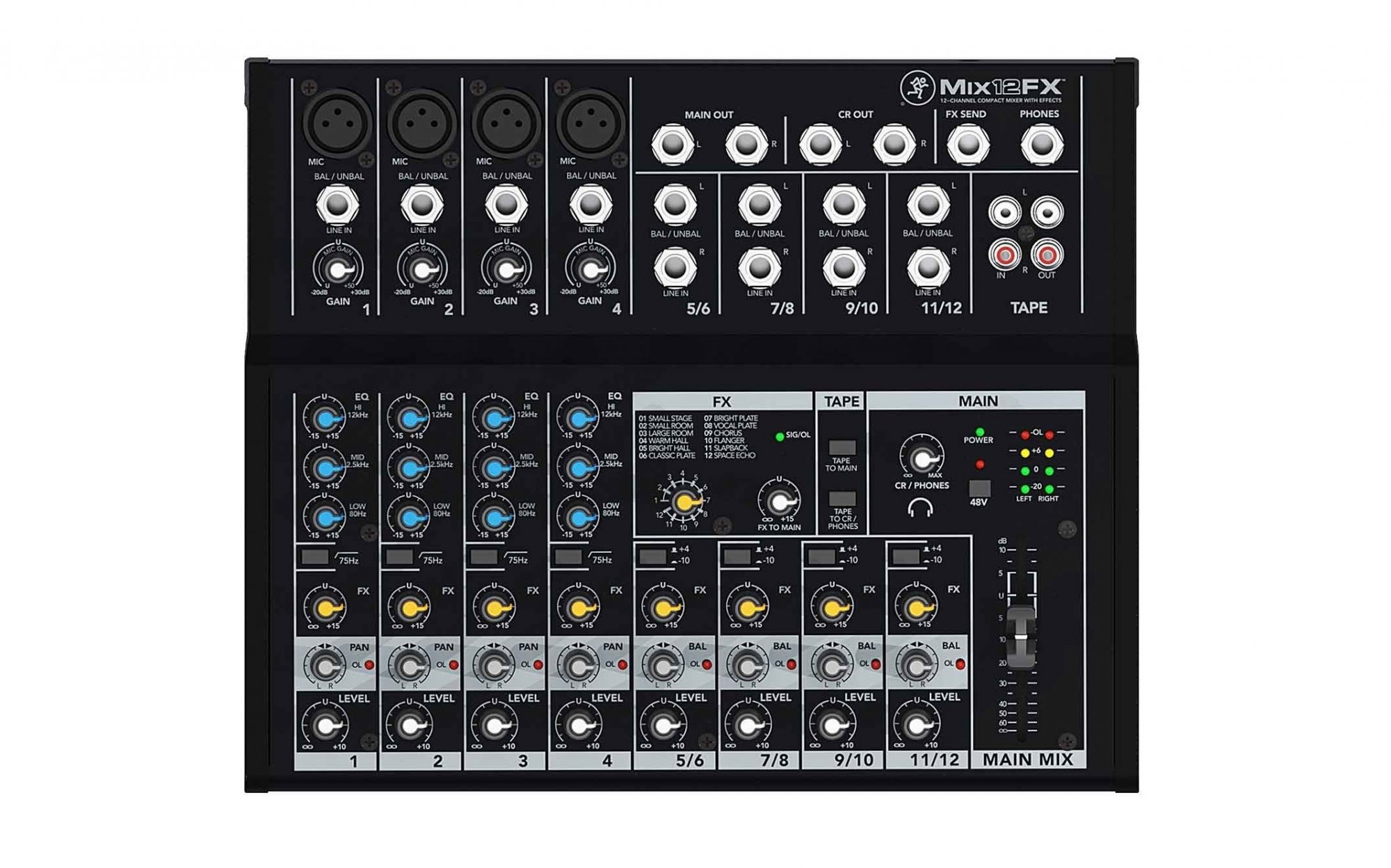 Mackie Mix12FX Compact Mixer with Effects