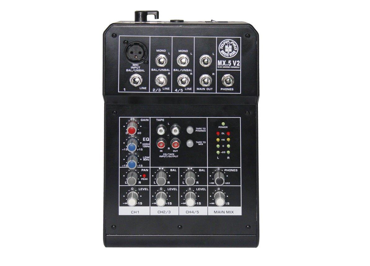 Topp Pro Music Gear MX5v2 Compact Mixer