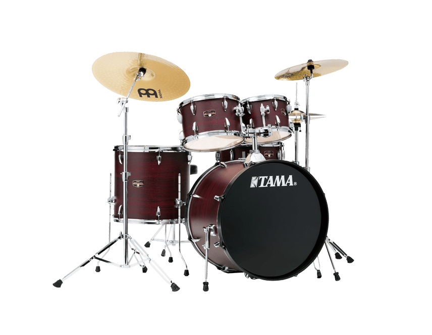 Tama Imperialstar Drum Kit, Burgundy Walnut Wrap, 22'' Kick