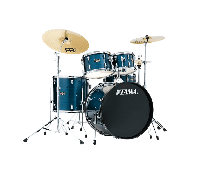 Tama Imperialstar Drum Kit, Hairline Blue, 22'' Kick