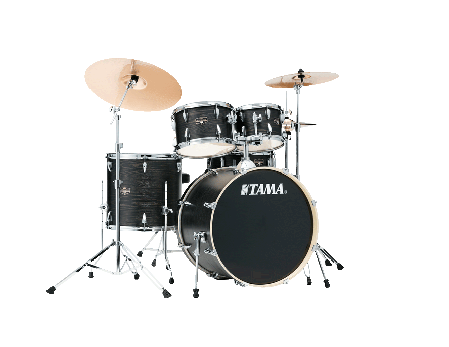 Tama Imperialstar Drum Kit, Black Oak Wrap, 22'' Kick