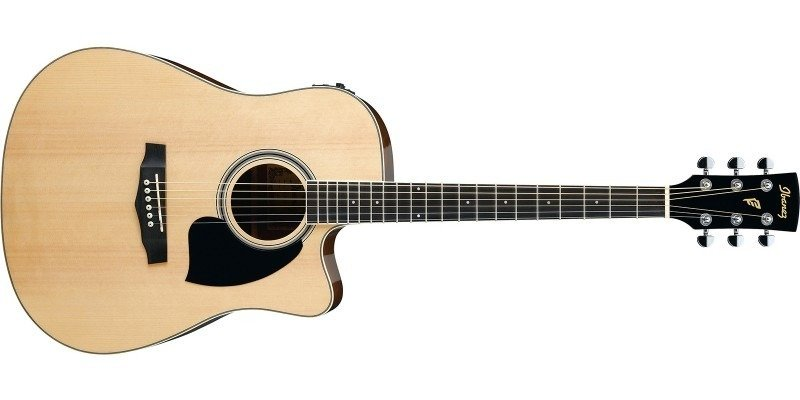 Ibanez PF15ECE Performance Dreadnought Acoustic Electric Guitar, Natural